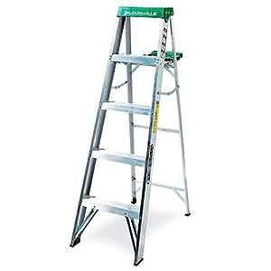 Louisville Ladder AS4005 225-Pound Duty Rating Aluminum Stepladder, 5-Foot