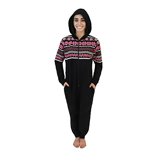 Body Candy Cotton Knit Women's Hooded Onesie Pajamas (See More Colors and Sizes)