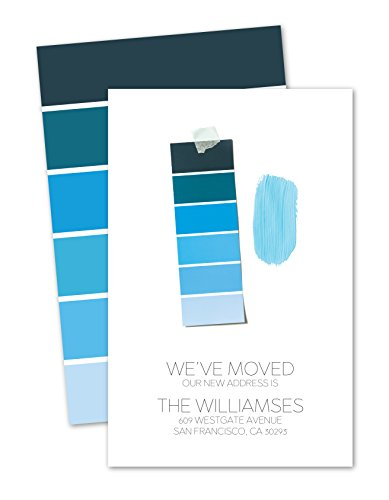 Personalized Moving Announcement - Paint Swatches Personalized Moving Announcement - Blue