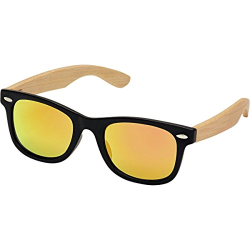 Blue Planet BP Classic Jr Kids Sunglasses Red Mirror With Natural Bamboo - Bp Planet