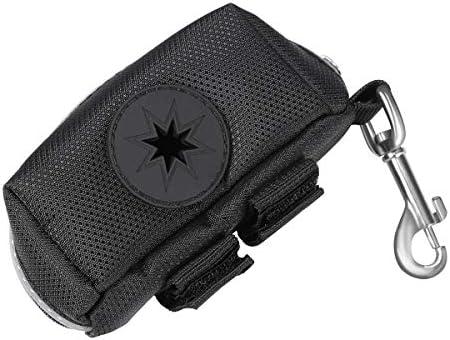 UEETEK Bolsas para excrementos de perro con dispensador y clip para correa (Negro)