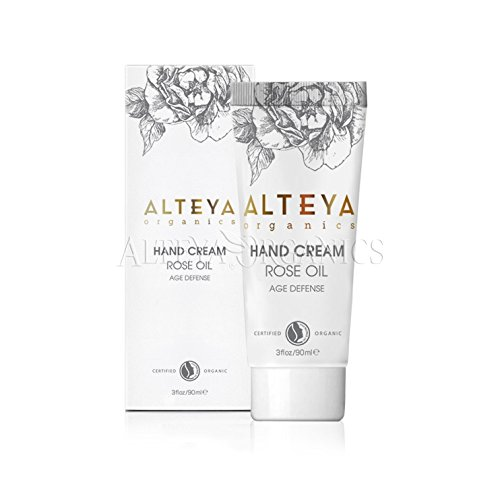 Alteya Organic Age Defense Hand Cream 90ml - NaTrue Certified Organic hand skin treatment cream based on Rose Oil (Rose Otto), nourishing, hydrating and restorative