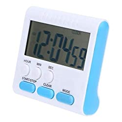 Fiesta LCD Digital Kitchen Countdown Timer Cooking Timer Count UP Alarm Clock Kitchen Gadgets Cooking Tools 6 Hours Digital Timer: 01