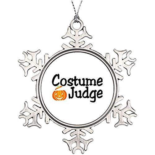 Diuangfoong Personalised Christmas Tree Decoration Halloween Pumpkin Halloween Costume Judge Pumpkin Snowflake Ornaments -