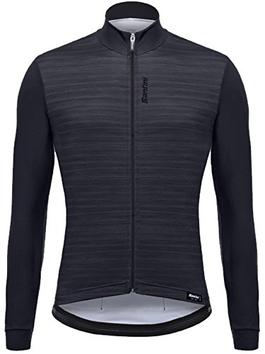 (Santini Classe Long-Sleeve Jersey - Men's Black, M)