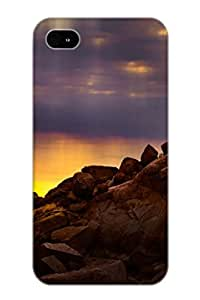 Amevow-2141-saxsntr Tpu Phone Case With Fashionable Look For Iphone 4/4s - Sunlight Falling On The Earth Case For Christmas Day's Gift