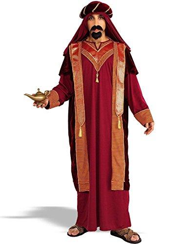 [Forum Novelties Men's Adult Sultan Costume, Red/Gold, Standard] (Sultan (wise Man) Adult Costumes)