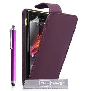 Yousave Accessories SE-HA01-Z589P - Funda para móvil Sony Xperia M, morado