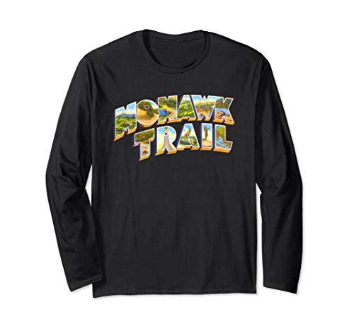 Mohawk Trail Massachusetts MA Vintage Retro Souvenir Long Sleeve T-Shirt