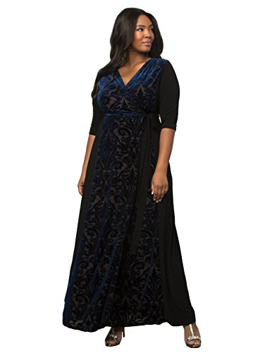 fa659575938 Kiyonna Women s Plus Size Ornate Velvet Maxi Dress