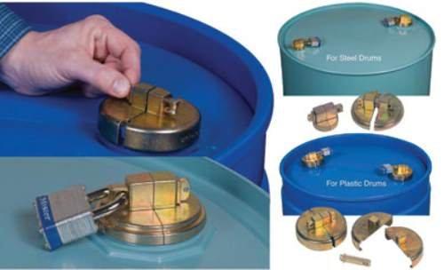 Justrite 2'' Steel Drum Lock Set Without Padlocks (For 55 Gallon Steel Drum Bungs)