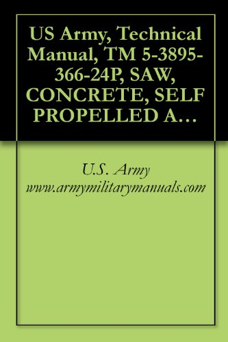 US Army, Technical Manual, TM 5-3895-366-24P, SAW, CONCRETE, SELF PROPELLED ABRASIVE D MODEL C-3000-30, (NSN 3895-01-303-8909), military manuals (Self Propelled Saw)