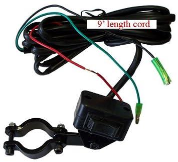 amazon com atv mini rocker winch switch handlebar remote atv mini rocker winch switch handlebar remote control