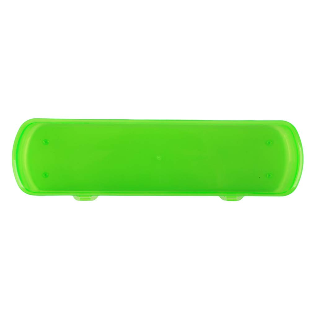 Yevison Portable Toothbrush Case Transparent Toothpaste Storage Box Travel Outdoor Toothbrush Case,Green High Quality