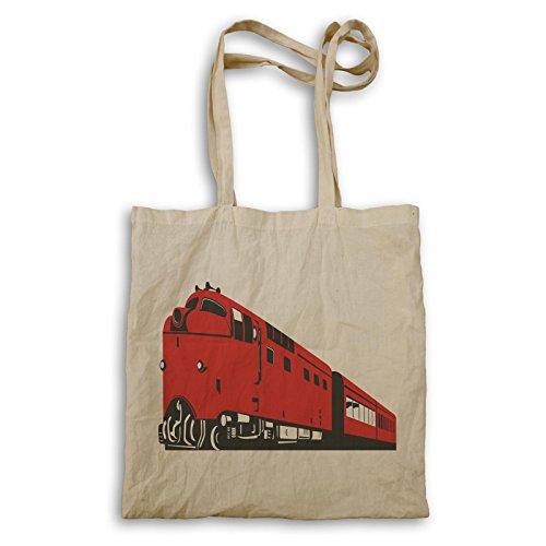 Diesel Zug Lokomotive Vintage Retro Tragetasche d655r