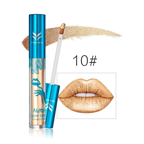Hot Sales! DEESEE(TM) New Holographic Lip Gloss Metallic Diamond Lasting Lipstick Shine Holo Glam - Without J Juicy Glasses
