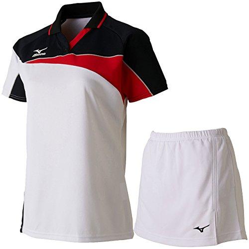 レディース ゲームシャツ&スカート 上下セット(ホワイト/ホワイト) 62JA7213-01-62JB7204-01