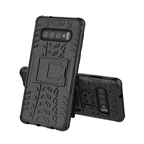 - Fit Samsung Galaxy S10E Case, Armor Shockproof Detachable Hybrid Heavy Duty Rugged 2in1 Dual Layer Protective Back Cover with Kickstand Compatible Galaxy S10E / S10 Lite G970 G970U G970F 5.8 (Black)