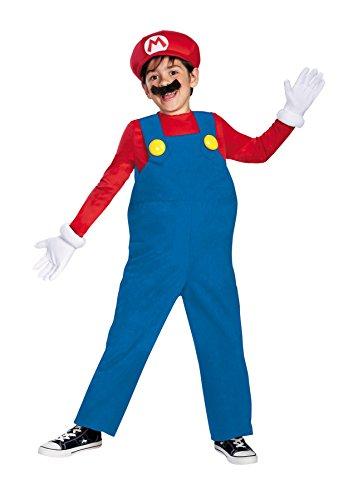 Mario Suit (UHC Boy's Mario Bros Deluxe Kids Child Fancy Dress Party Halloween Costume, S (4-6))