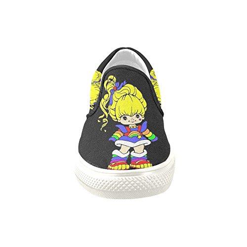 on Story Rainbow Brite Sneaker Canvas Slip Custom Fashion Shoes Womens D xYPgwg