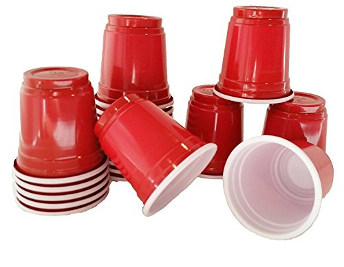 JFullerton Mini Solo Cup 20 2oz Mini Red Plastic Shot Glasses Drinkware Redneck Party Cups