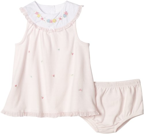 Little Me Baby-girls Newborn Fleur Yoke Dress Set