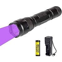 365 nm UV-led-zaklamp, oplaadbaar, ultraviolet-zaklamp, blacklight-UV-lamp, professioneel voor het herkennen van…