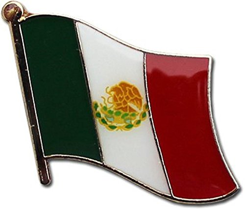 AES Mexico Mexican Country Flag Bike Motorcycle Hat Cap Lapel Pin