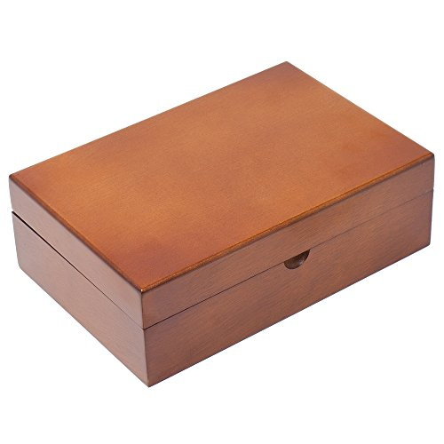 Caddy Bay Collection Memory Keepsake Mementos Jewelry Wood Gift Box Chest – Vintage Brown by Caddy Bay Collection (Image #1)