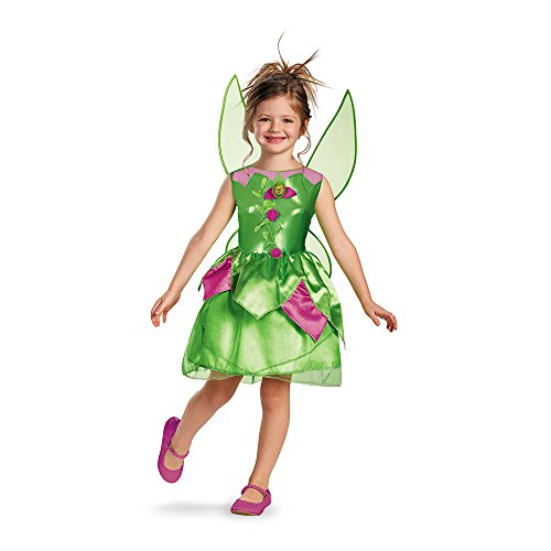 Tinkerbell Halloween Costumes For Kids (Disney Fairies Tinker Bell Classic Girls Costume, 3T-4T)