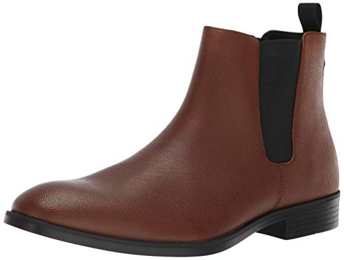 - Calvin Klein Men's Corin Small Tumbled Leather Chelsea Boot, New TAN, 7.5 M M US