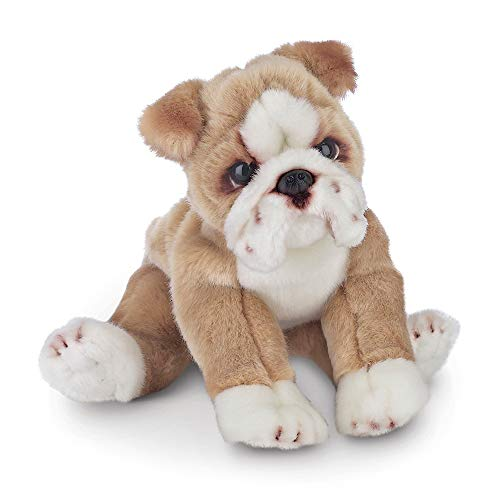 Bearington Tug Bulldog Plush Stuffed Animal Puppy Dog, 13 inches -