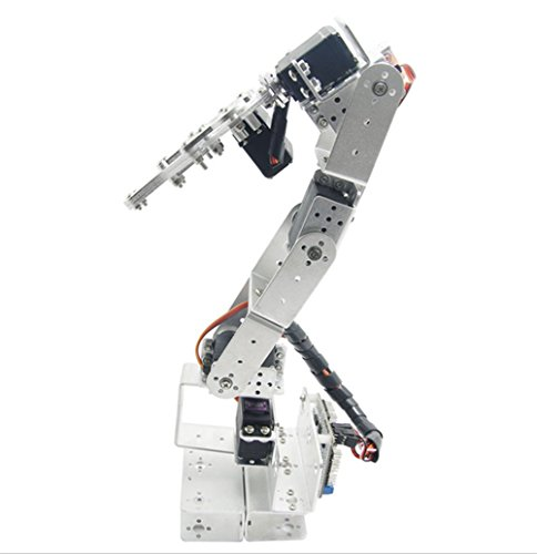 Funny DIY Expert ROT3U 6DOF Aluminium Robot Arm Mechanical Robotic Clamp Claw for Arduino