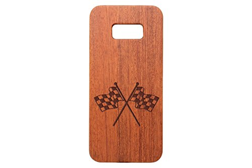 for Samsung Galaxy S8 PLUS Black Walnut Wood Phone Case NDZ Checkered (Checkered Walnut)