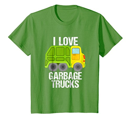 - Kids Boys' I Love Garbage Trucks T-Shirt For Kids Toddlers 4 Grass