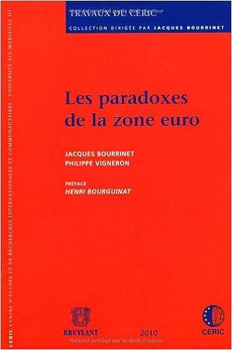 En ligne Les paradoxes de la zone euro pdf, epub ebook