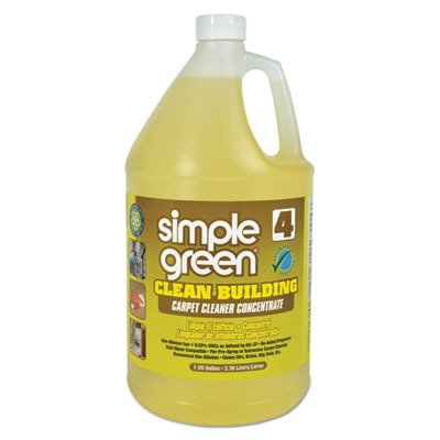 (Simple Green 11201 Clean Building Carpet Cleaner Concentrate, Unscented, 1gal Bottle (Case of 2))