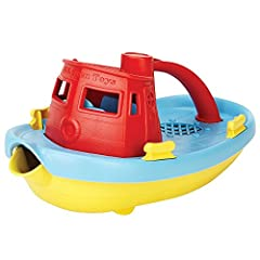 Green Toys Tugboat Embark on a cruise across the bathtub. Navigate the wading pool. Even splash around in the occasional mud puddle. There's no end to the Good Green Fun young sailors can have with the Green Toys Tugboat. Made in the ...
