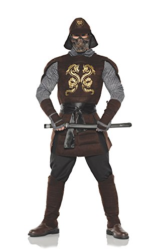 Men's Samurai Warrior Costume, Brown, One Size -