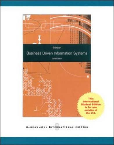 business driven information systems Business driven information systems, 4e discusses various business initiatives first and how technology supports those initiatives second the premise for.