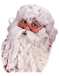 Deluxe Santa Wig, Beard and Eyebrows Set