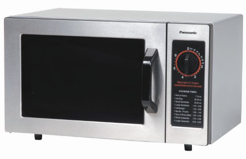 Panasonic NE-1022F Stainless 1000W 0.8 Cu. Ft. Commercial Microwave Oven