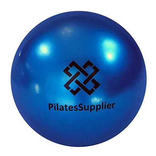 Pilates 4 (10cm) Accessory Mini Ball for AeroPilates, Yoga, Fitness, Strength, Pilates Reformer or Mat Pilates (Gold-Blue)