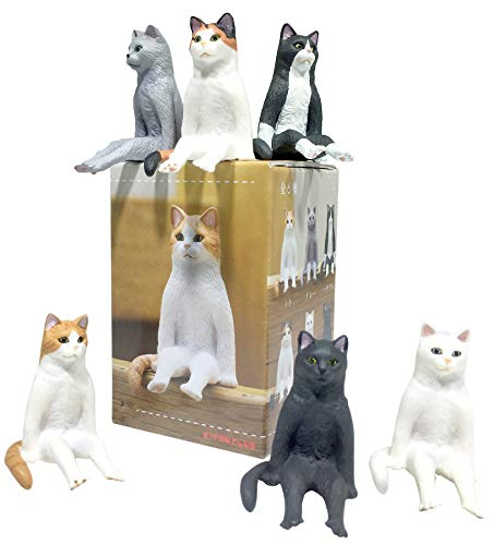 Kitan Club - Sitting Cat Plastic Toy - Blind Box Includes 1 of 6 Collectable Figurines - Fun, Versatile Decoration - Authentic Japanese Design - Made from Durable Plastic