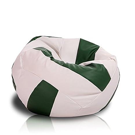 Amazon.com: Turbo Beanbags Voleibol estilo grande puf, Cuero ...