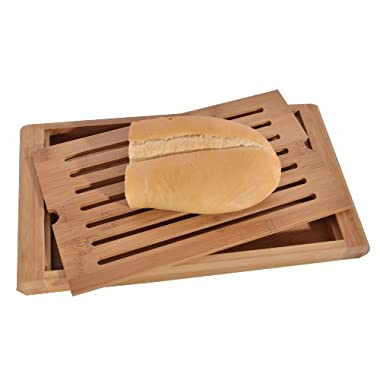 Bamboo Bread Cutting Board. 14.25  W X 8  D X 1.5  H