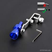 Universal Size S Car Blue Turbo BOV Sound Whistle Simulator Pipe Exhaust Muffler New
