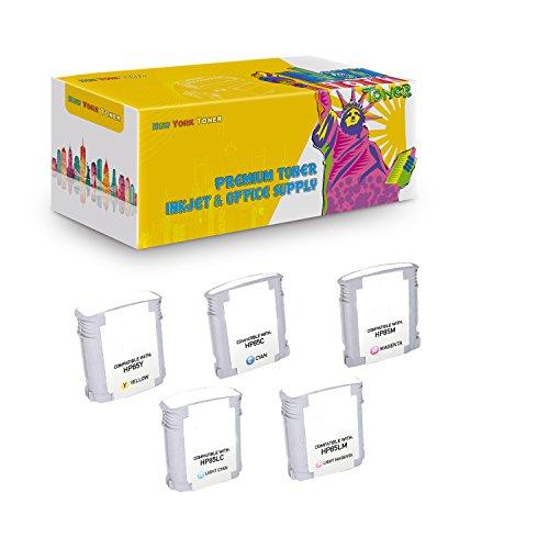 New York TonerTM New Compatible 5 Pack C9425A C9426A C9427A C9428A C9429A HP 85 High Yield Inkjet For HP Designjet 30 | 130 . -- Magenta Yellow Cyan Light Magenta Light Cyan