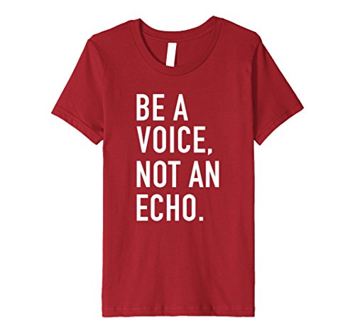 Price comparison product image Kids Be A Voice Not An Echo - Motivational Quote T-Shirt 12 Cranberry