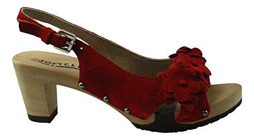Softclox S3392-02 - Sandalias de vestir de Piel para mujer Persia (Hazelnut)